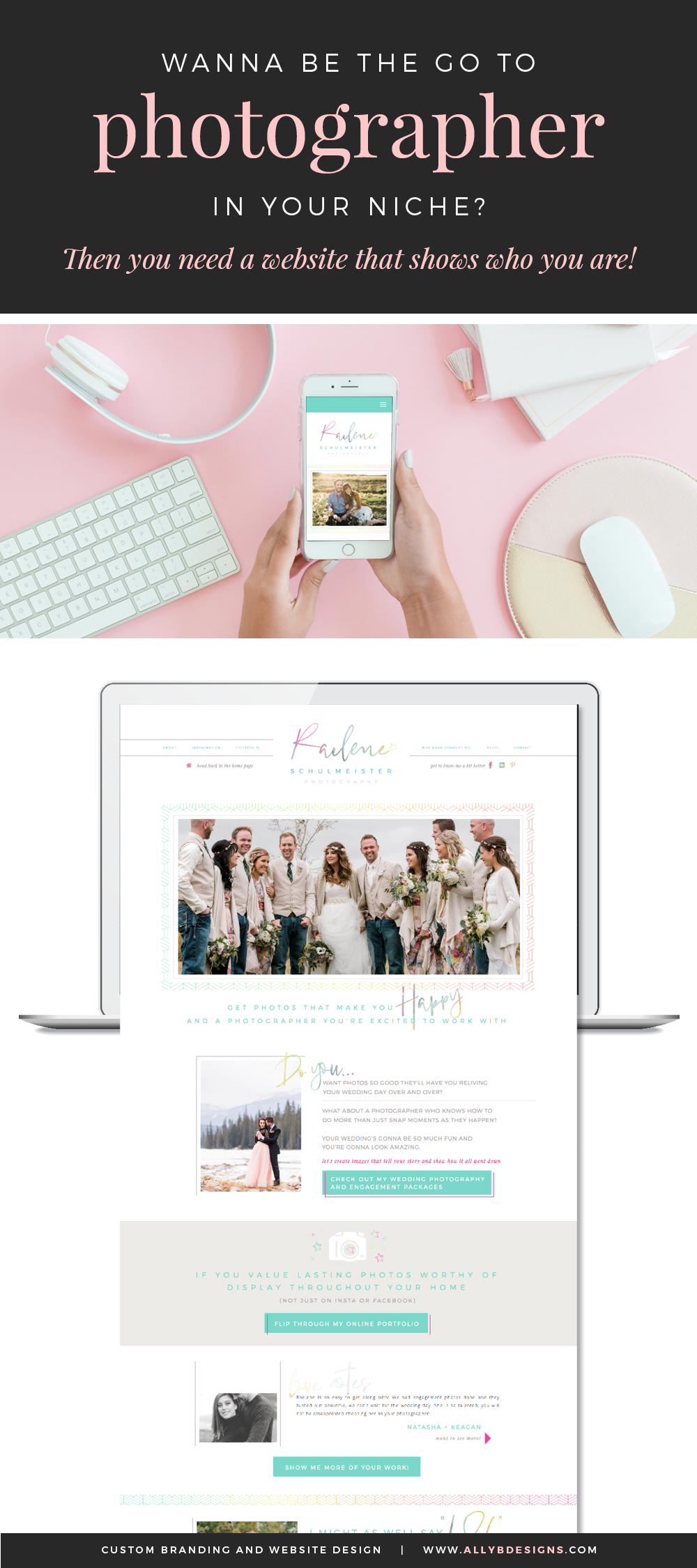 If You Want To Be The Go To Photographer You Need A Brand And Website That Connects With Your Ideal Photographer Branding Design Web Design Web Design Company