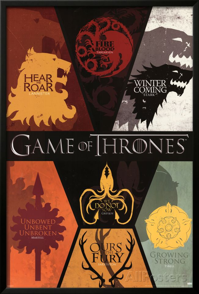 Game of Thrones House Sigils Television Poster | TV - Series \'n ...