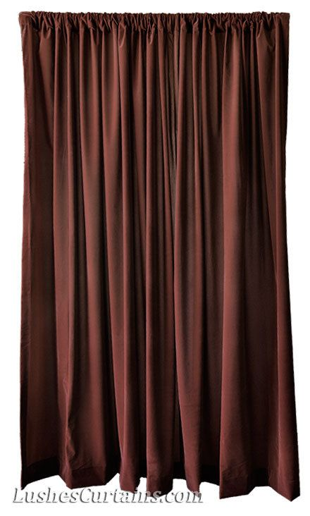 Brown Velvet 72 Inch High Curtain Long Panels By Lushescurtains