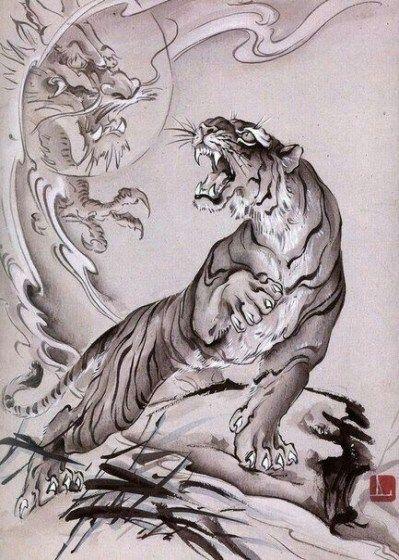 japanische Tätowierungen Tiger Body Suit Tattoos –  Japanischer Tätowi…