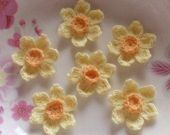 Gehaakte stoffen narcissen bloemen haak van CraftsbySigita op Etsy