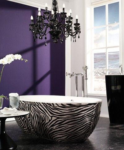 zebra bathtub