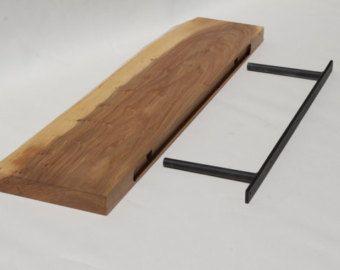 Black Walnut Live edge floating shelf Item 70 by TreeCycleNW