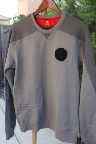 Derrick Rose D Rose Adidas Gray Men's Sweatshirt Crew Pullover New Size Large | eBay