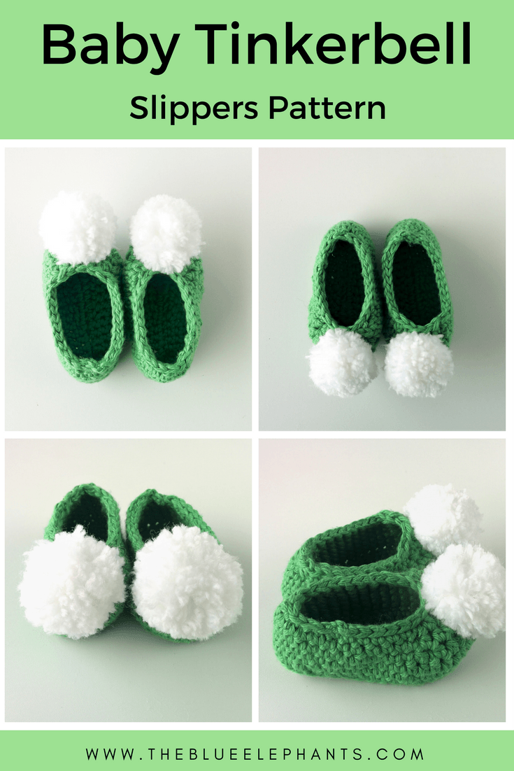 Free Pattern: Baby Tinkerbell Slippers | Crafts | Pinterest ...