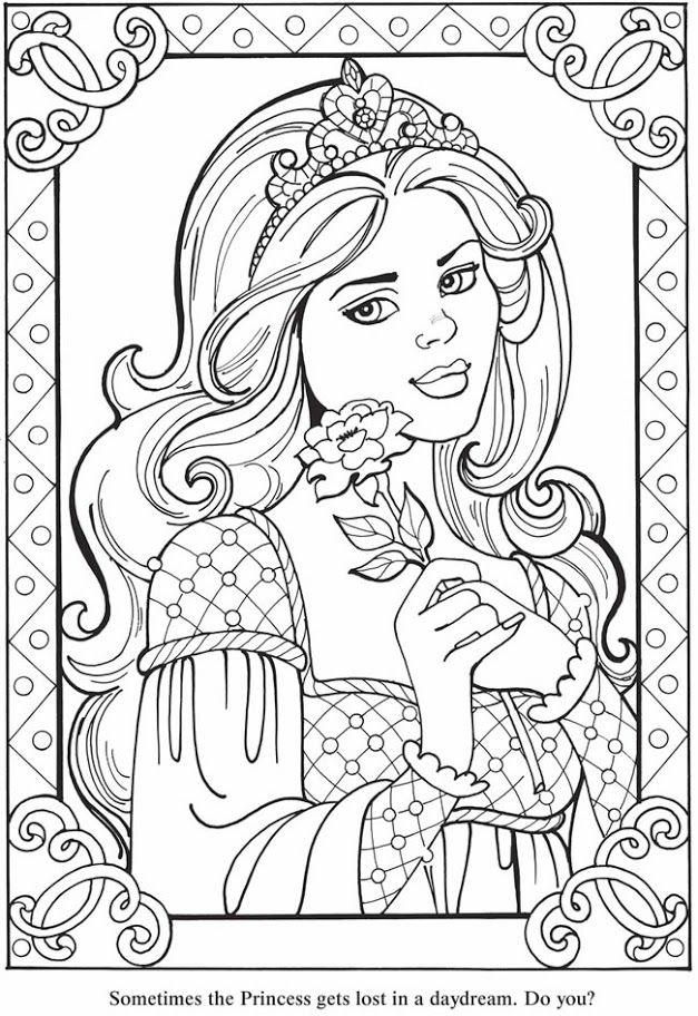 Princess coloring Pics free Dover Sampler Mama Mia