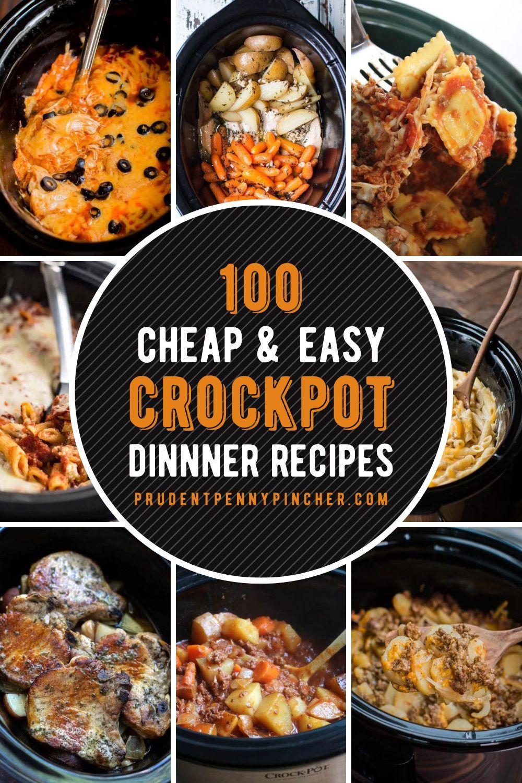 100 Cheap And Easy Crockpot Recipes Crockpot Recipes Slow Cooker Crockpot Recipes Easy Chicken Crockpot Recipes