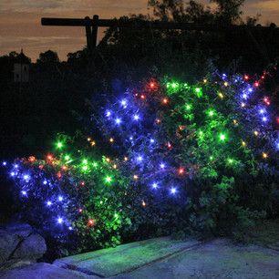 100 Multi Coloured Led Solar Net Light 1 5m X 0 8m 6 99