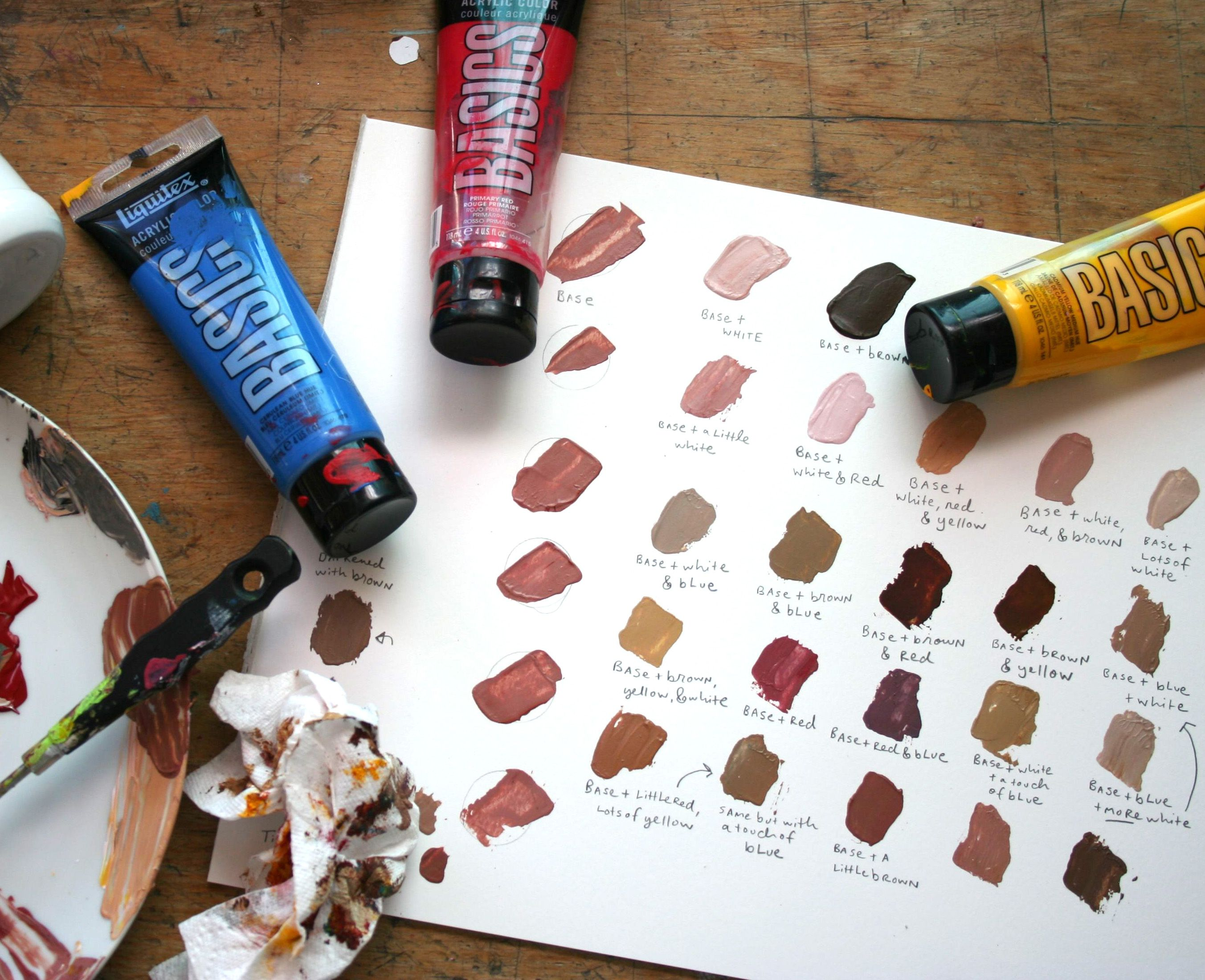 Best Color mixing chart acrylic ideas on Pinterest