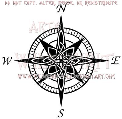Celtic Knot Compass Compass Rose Tattoo Compass Tattoo Design