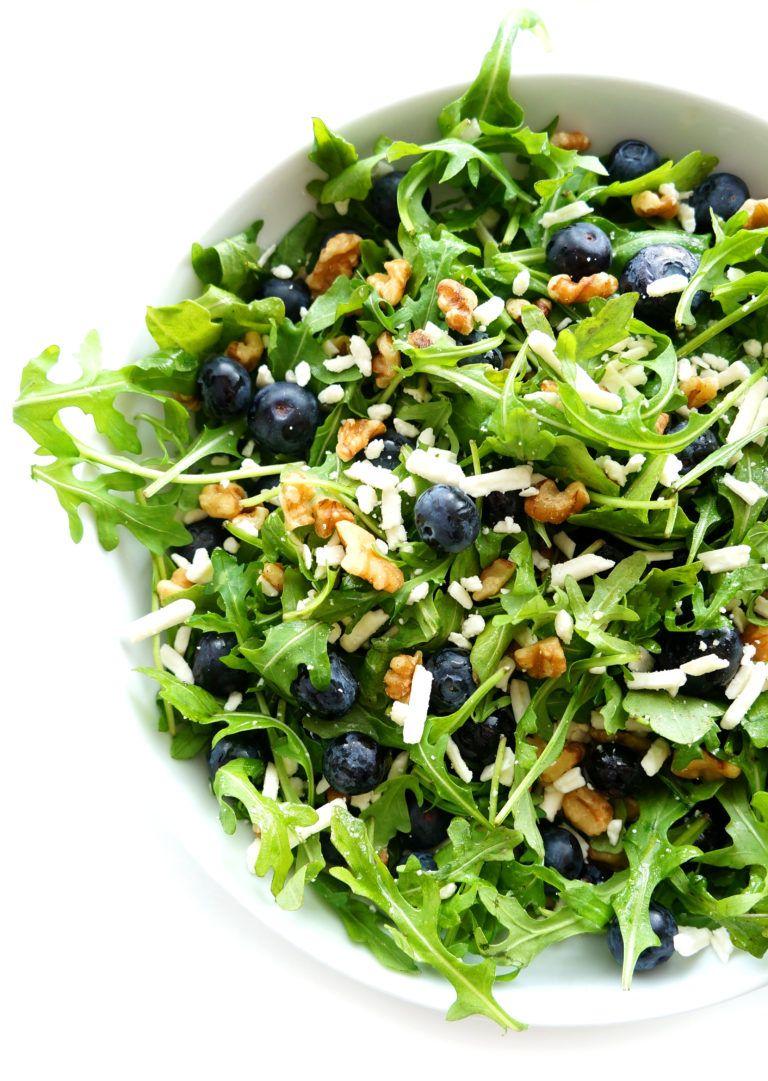 Blueberry Walnut Salad with Lemon Dressing | Recipe (With ...