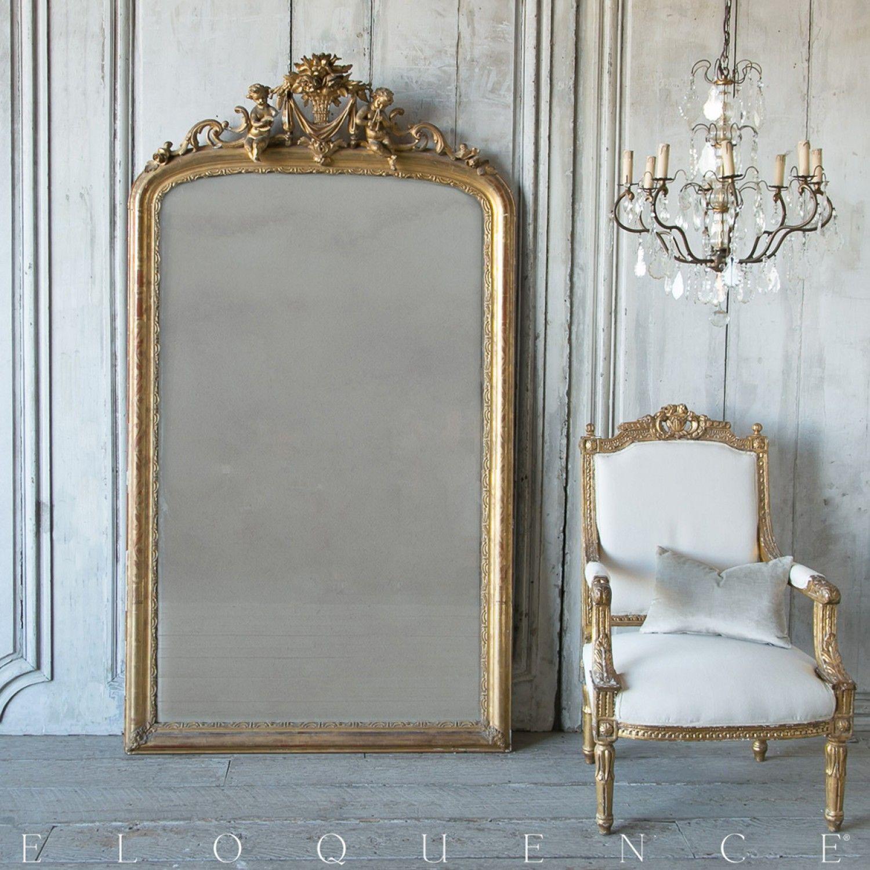 Eloquence Antique French Gilt Mirror 1860 Floor Mirror Living Room Living Room Mirrors Antique Floor Mirror