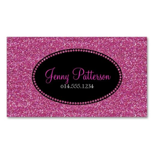 Pink Glitter Pretty Elegant Girly Business Cards Zazzle Com Girly Business Cards Pink Glitter Girly