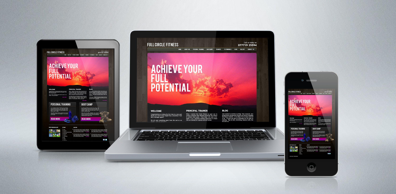 Yomp Marketing For Full Circle Fitness Website Design Website Design Design Graphic Design