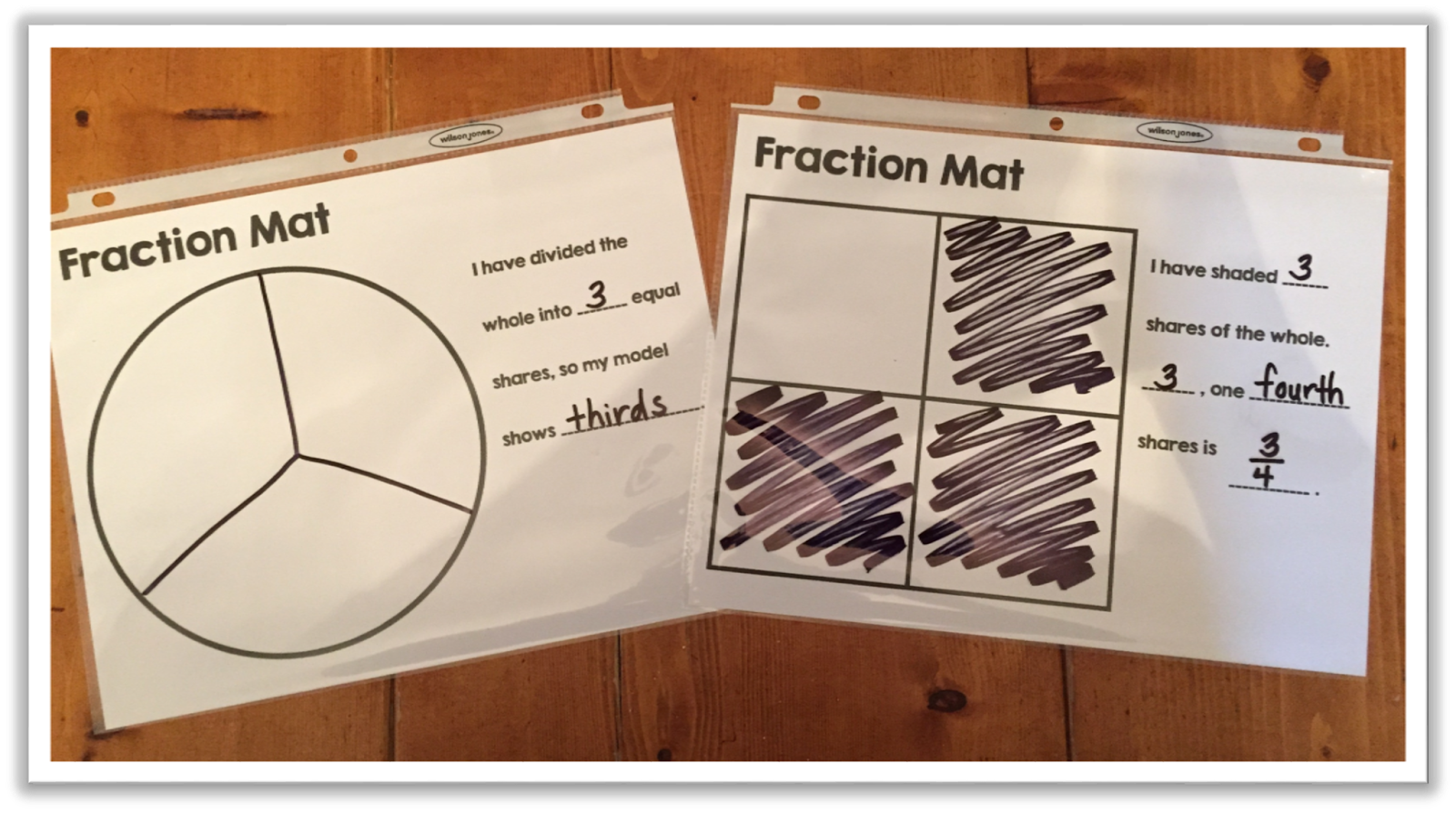 Here S A Great Idea For Using Mats To Show Fractional