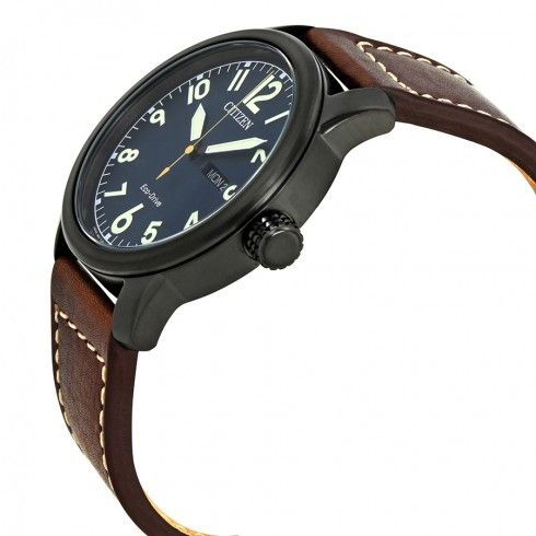 c5f7162b2 Citizen Chandler Dark Blue Dial Men's Brown Leather Watch BM8478-01L -  Citizen - Watches - Jomashop