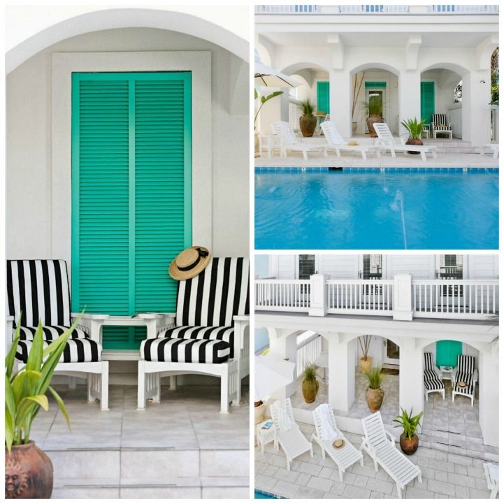 High Contrast White And Black With Beautiful Aqua Accents