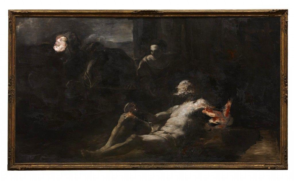Nicola Samorì - Io sono Giobbe, 2012, oil on linen, 210 x 340 cm - Contemporary sacred art | CoSA