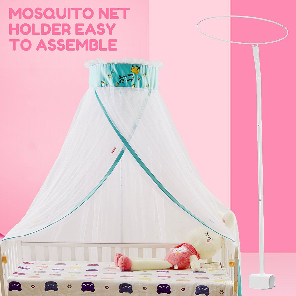 Baby Crib Mosquito Netting Holder Universal Canopy Drape Holder Bed Support