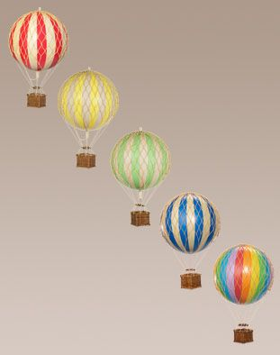 Hot air balloons for mobile red yellow green