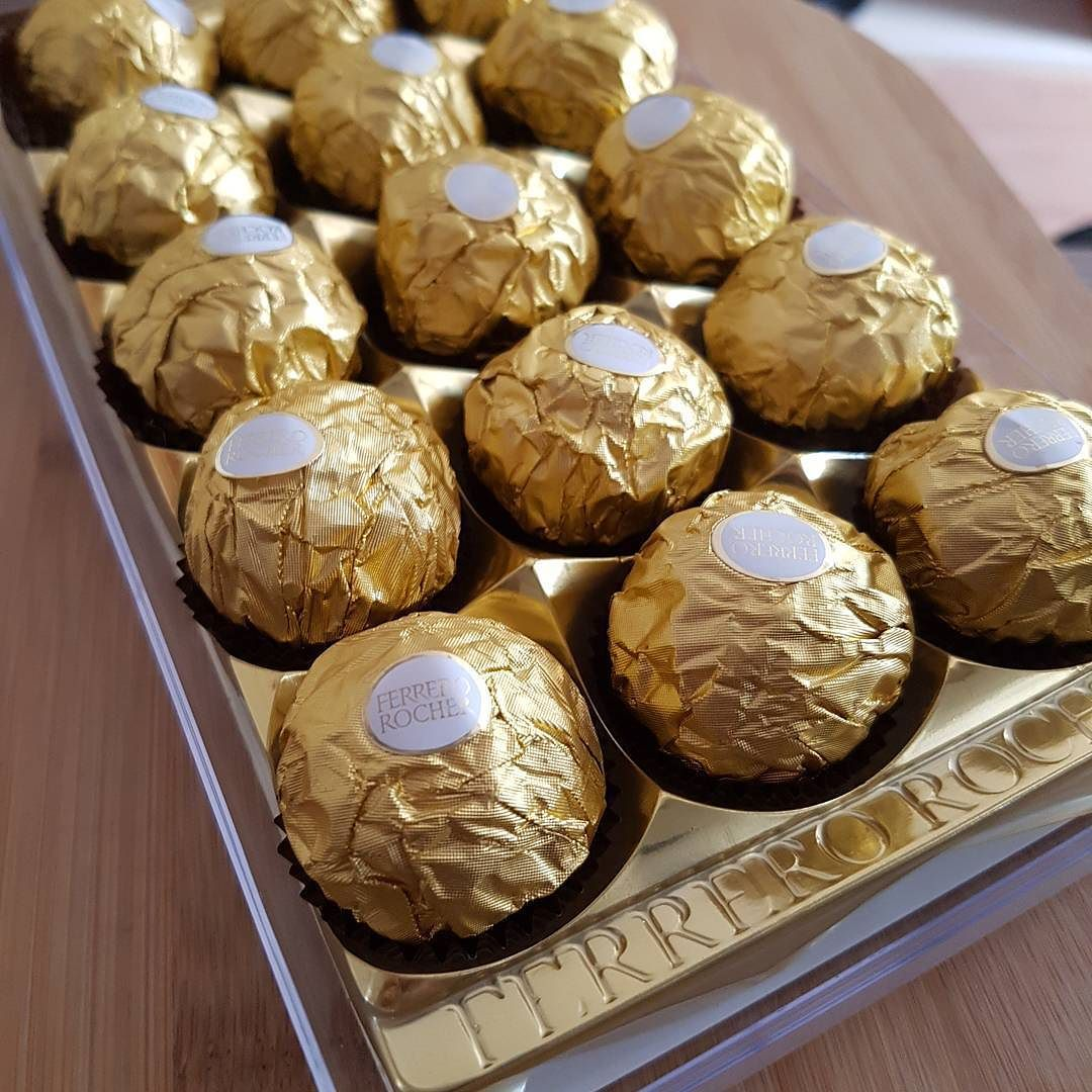 We Liked this on Instagram ... victormanoel: #chocolate #chocolat #chocolover #chocoaddict #errejota #ferrerorocher #hummm #vaigordinho