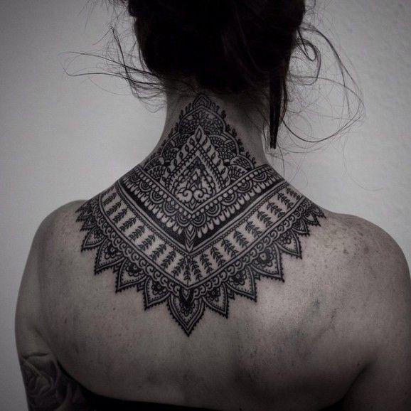 Mehndi Nape Tattoo : Many nape tattoos are inspired by mehndi here
