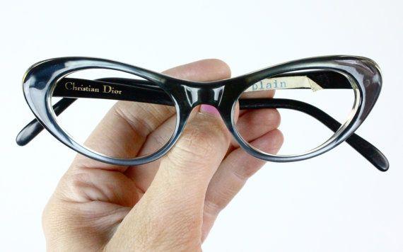 1aecadd82ab Vintage 60 s Rare Christian Dior Cat Eye Eyeglasses Sunglass Frames ...