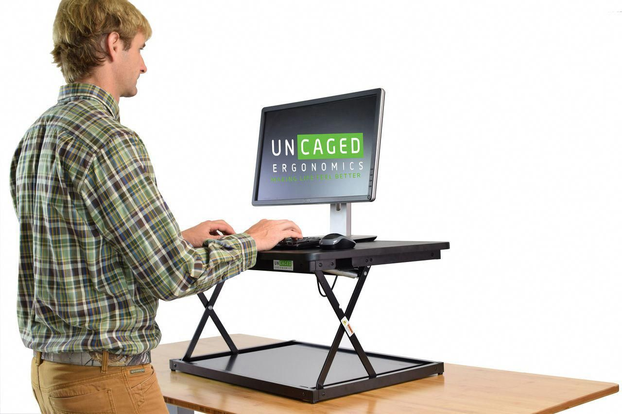 Height adjustable desktoplaptop standing stand up desk riser