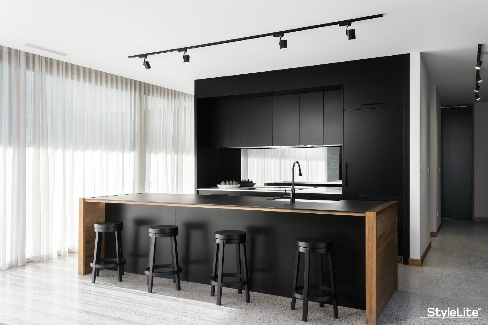 Impact Kitchens created this sophisticated kitchen using