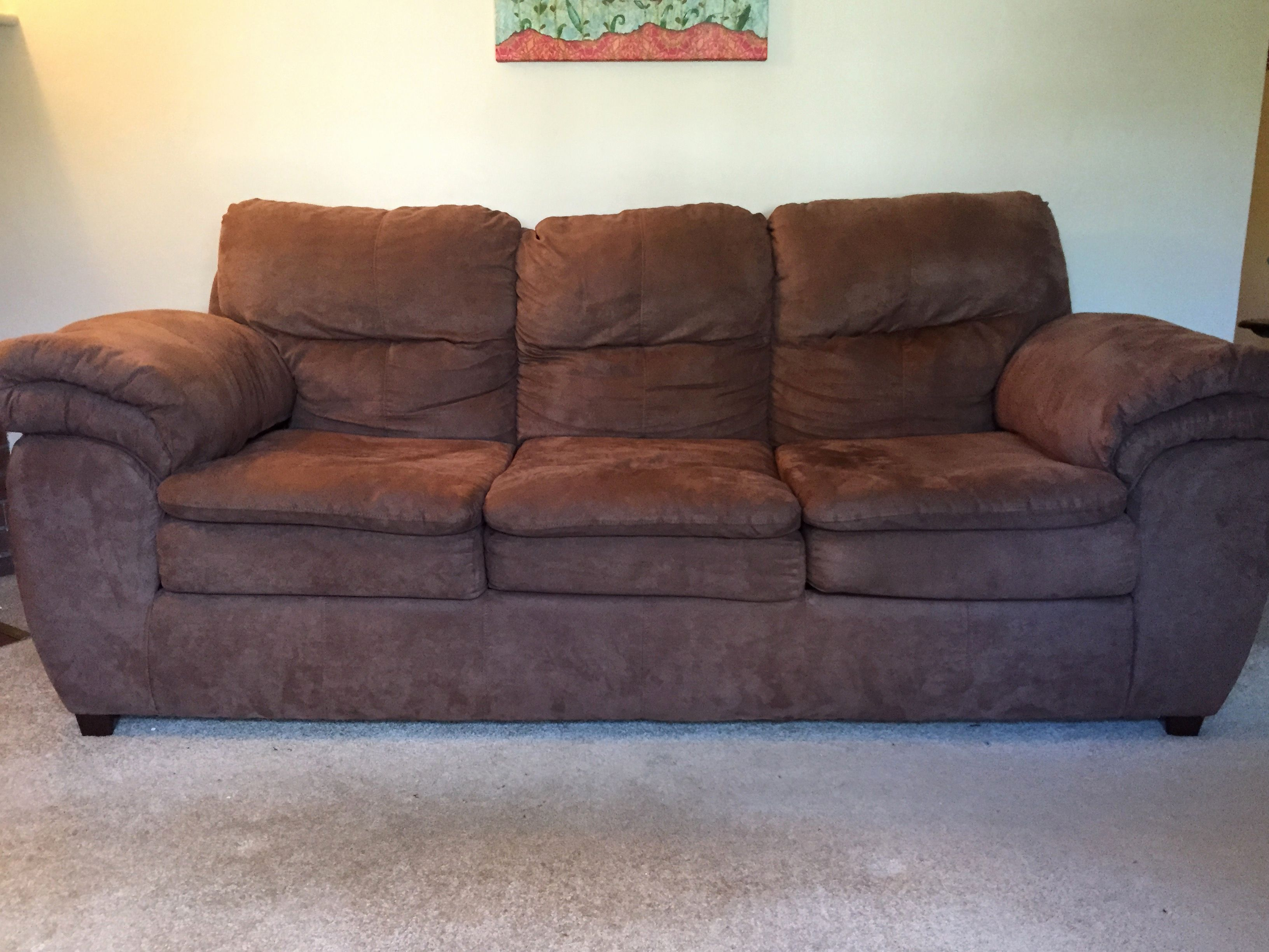 chocolate brown microfiber sofa