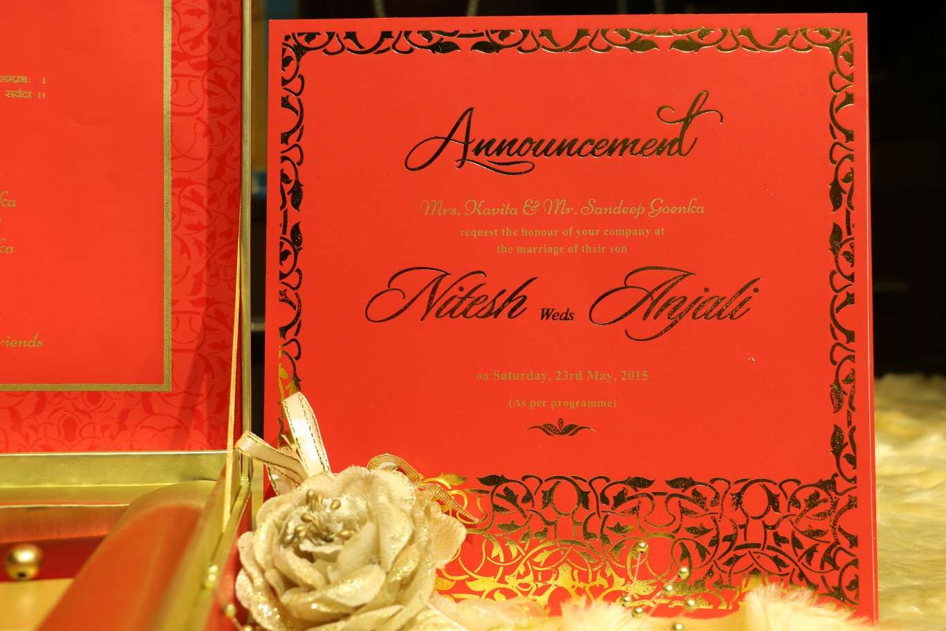 red-gold-cheap-wedding-card #newdelhi #weddinginvitation #weddingbox ...