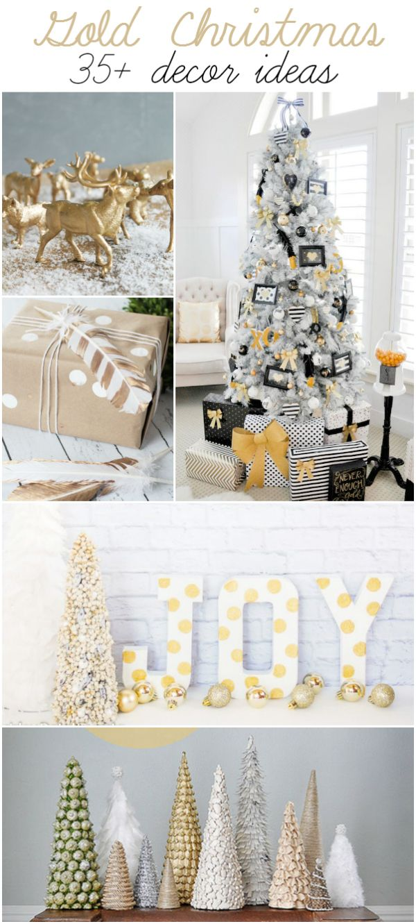 White and gold christmas decorating ideas - Gold 35 Gold Christmas Decor Ideas