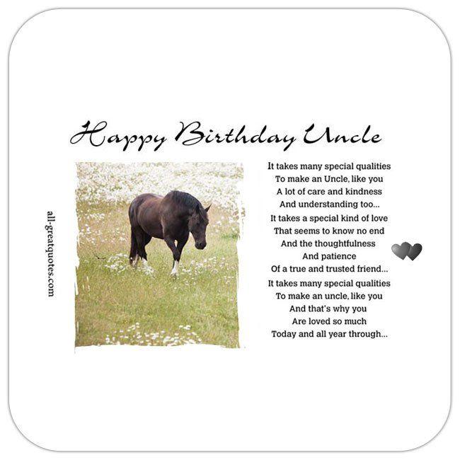 Happy Birthday Uncle Poems Pinterest Happy Birthday Uncle Short