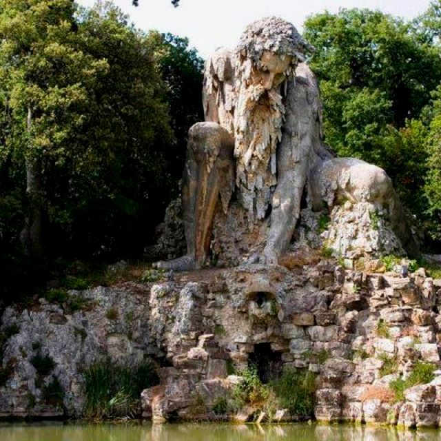 The statue of Apennine, Tuscany Italy