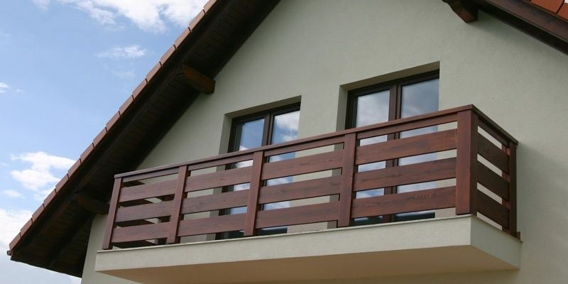 Balkonowe Balustrady Drewniane Balkon System Balustrady