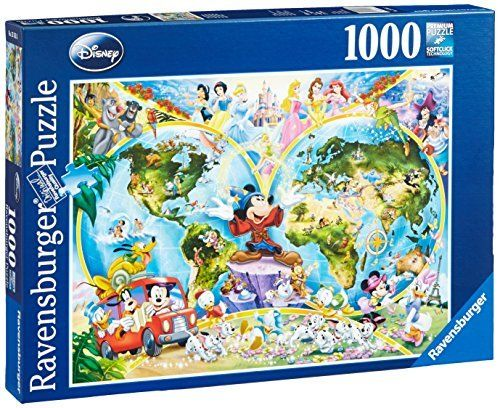Disney world map 1000 piece jigsaw puzzle featuring the entire disney world map 1000 piece jigsaw puzzle featuring the entire disney family disney princess gumiabroncs Image collections