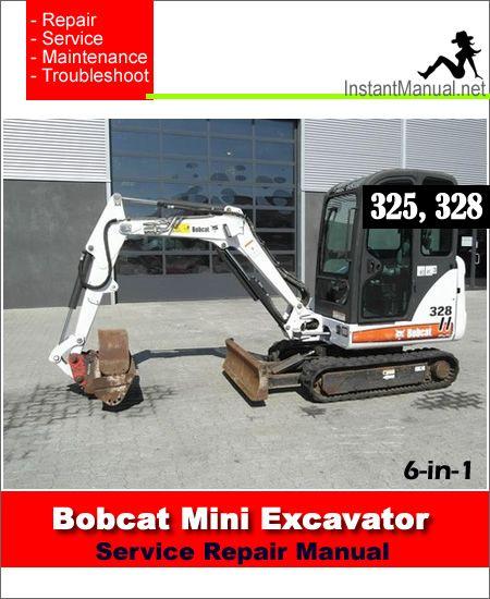 Bobcat X320 Mini Digger Workshop And Parts Manual