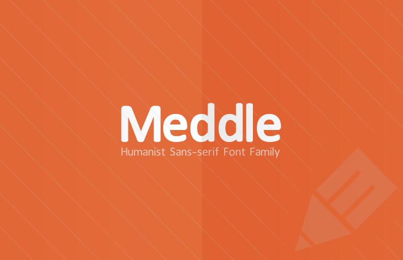 Medialoot - Meddle Sans-serif Font Family