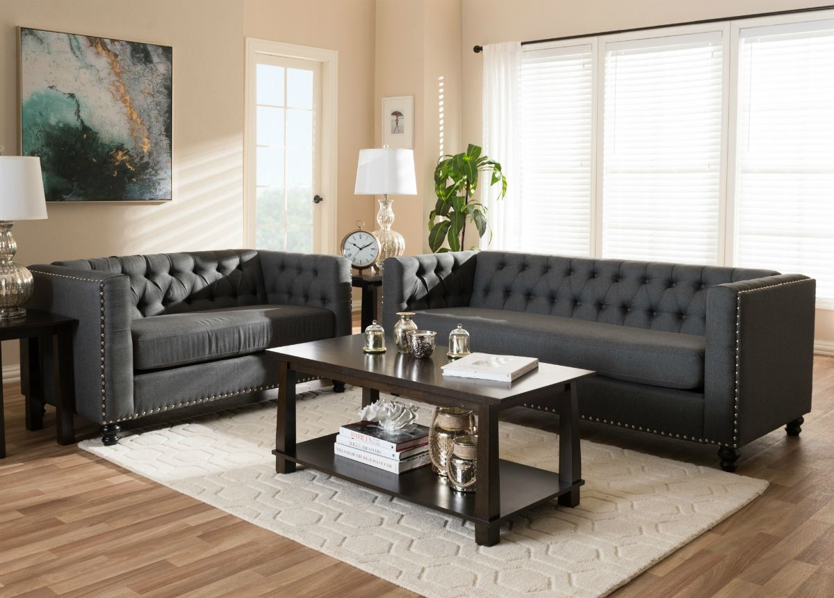 Clean classic and roomy the charcoal tufted astoria grey