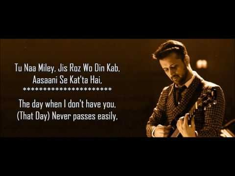 Jaane De - Atif Aslam - Qarib Qarib Single - Lyrical Video