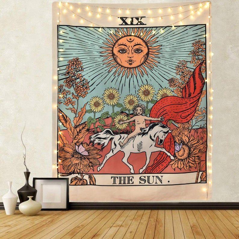 Marudhara tarot tapestry sun tapestry wall hanging