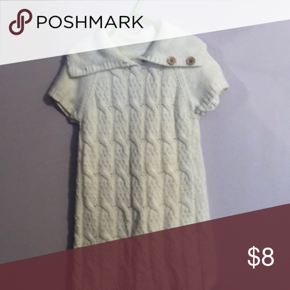 68d7a2c3848 Old Navy sweater dress size 3t Cream color sweater dress with wooden  buttons Old Navy Dresses Casual