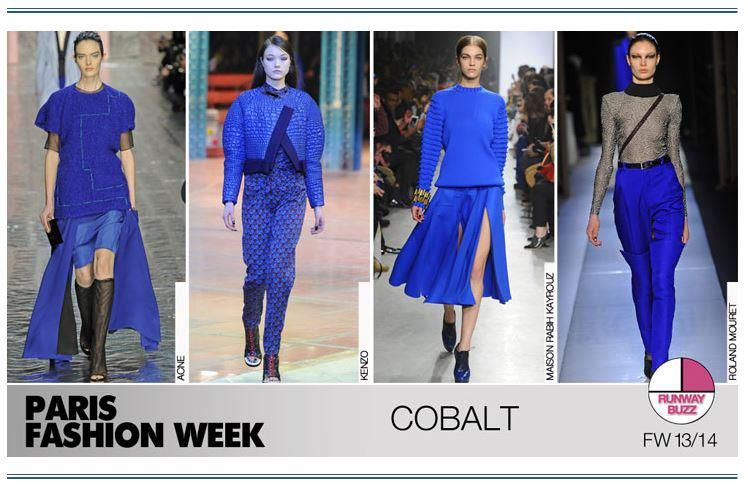 Cobalt has been a HOT color coming down the Paris runways, at shows like Acne and Kenzo... #FashionSnoops