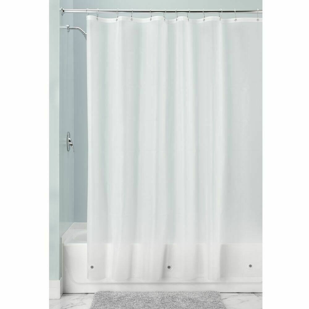X Wide Vinyl Shower Curtain Liner For Bathroom In Clear Frost 108