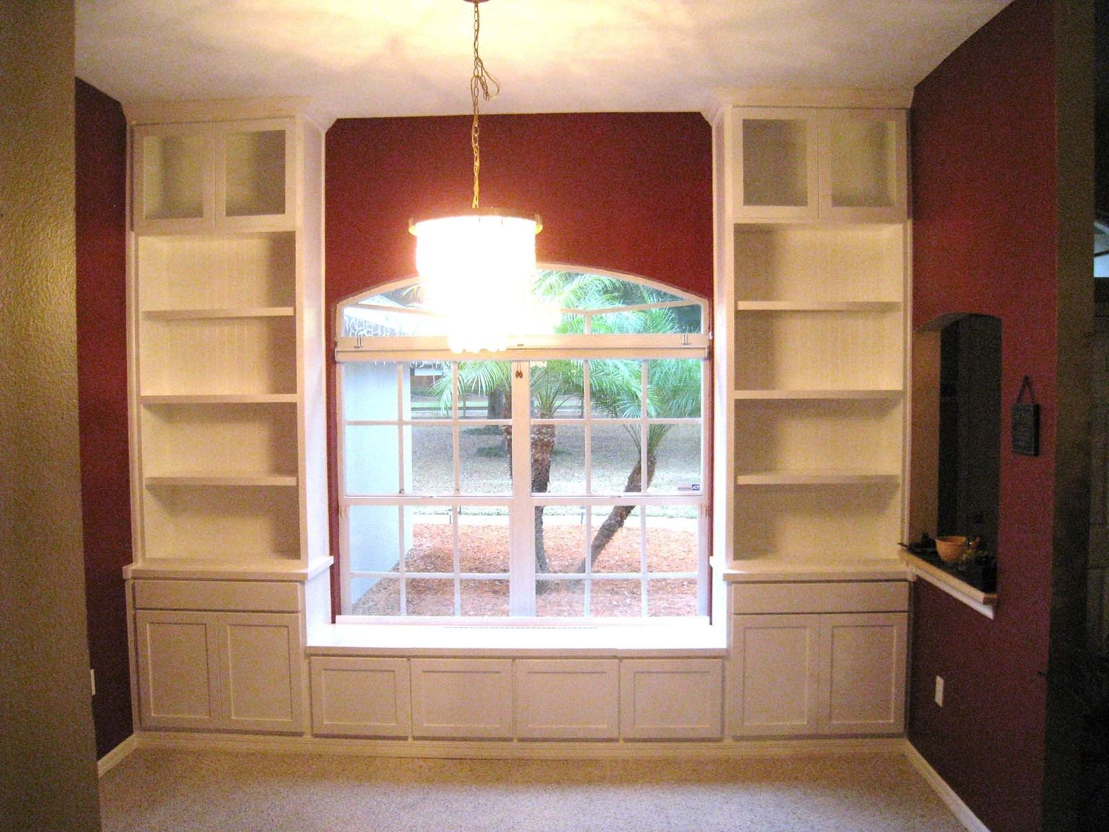 Hand Made Custom Built In Bookcases & Window Seat By Natural