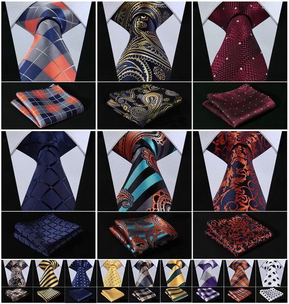 "Check Floral Striped Dot 3.4"" Silk Wedding Jacquard  Woven Men Tie Necktie Pocket Square Handkerchief Set Suit J2 Great Valentine Day Gift For That Special http://www.eyeforatie.net?rfsn=444538.21d46Someone."