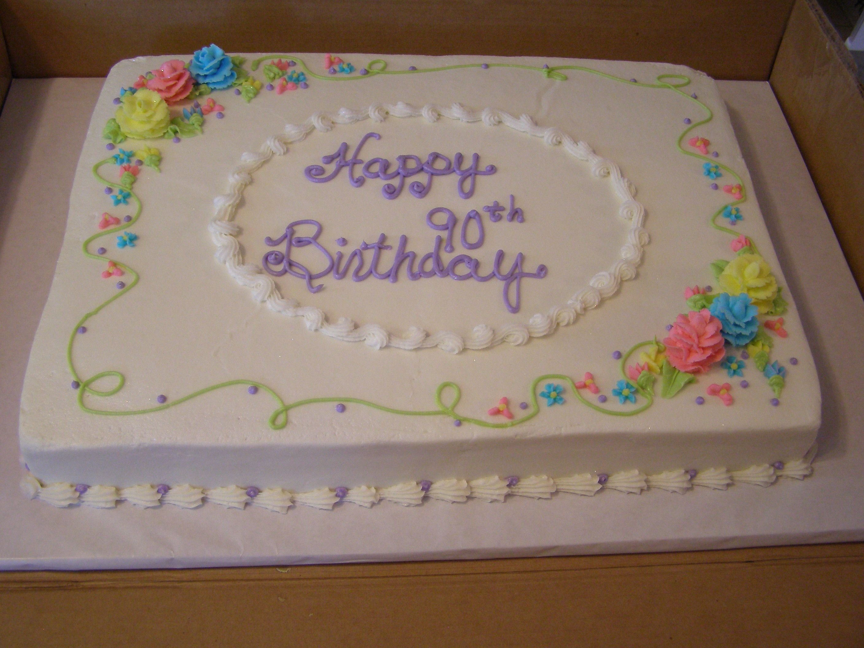 Sheet Cake Decorated With Flowers : sheet cake with flowers - sheet cakes are unfortunatly ...