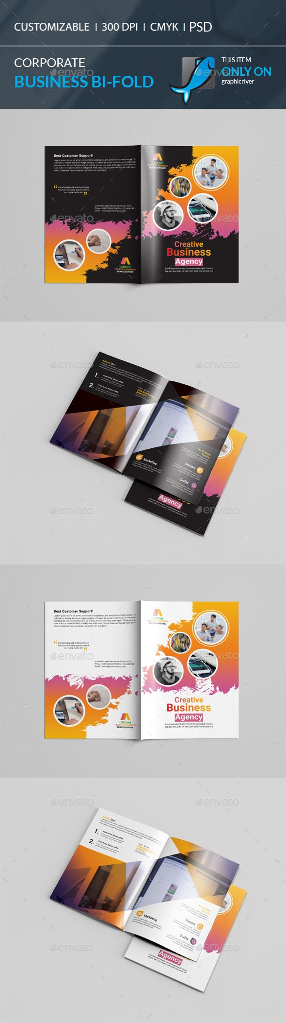 bi fold brochure template psd brochure templates pinterest