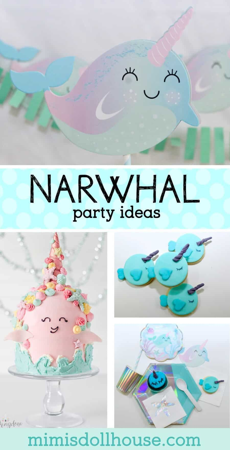 Delightful Narwhal Birthday Party Ideas - Girls birthday party themes, Girl birthday themes, Fun birthday party, Birthday party themes, Birthday parties, Girls birthday party - Mystical sea creatures and glitter lovers rejoice! Adorable Narwhal Party Supplies and Ideas for a gorgeous party!