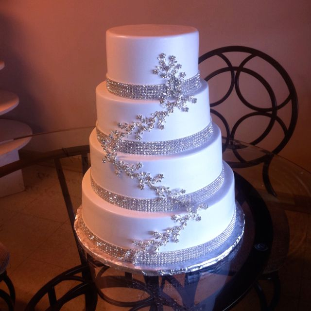 Wedding Cake With Bling!!! :) @ Bill Rhodes Bakery